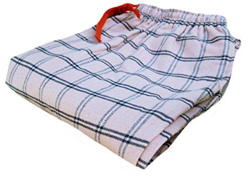 KXP Womens Relaxed Drawst Plaid Loungewear Pajama Bottoms Pants Pink white Small