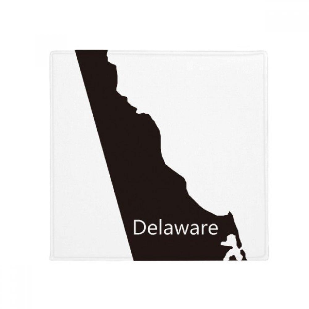 DIYthinker Delaware America USA Map Silhouette Anti-Slip Floor Pet Mat Square Home Kitchen Door 80Cm Gift