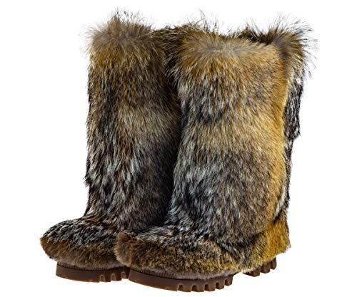 Amazon.com Winter Boots For Men, Coyote Genuine Fur (All