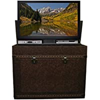 Touchstone 72007 Elevate Vintage Trunk TV Lift Cabinet for TVs Up To 46, Leather