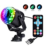 led lights in car - Miuko Disco Ball DJ Light 3W USB Strobe LED Party Light Portable 7 Colors Sound Activated Dance Light Stage DJ Lights for Festival Bar Club Party in Car or Outdoor (with Remote)
