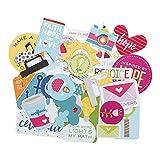 Bella Blvd 1257 Illustrated Faith Basics Paper Pieces Cardstock Die-Cuts, Encouragement, Multicolor