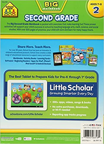 Second Grade Big Workbook: School Zone Publishing Company Staff ...