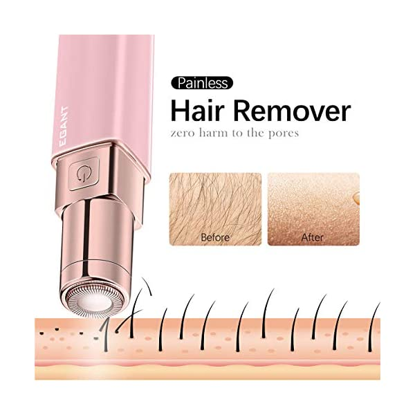 Facial Hair Removal Gifts for Women, Painless Hair Remover Devices for Peach Fuzz, Chin Hair, Upper Lip, Shaver Razor…