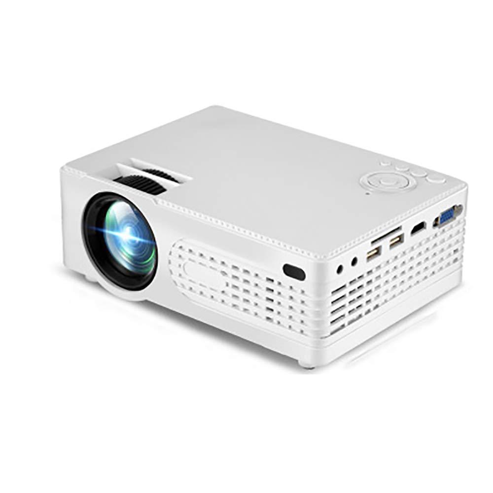 ミニポータブルプロジェクター、4500ルーメンのビデオプロジェクター、Fire TVスティック、PS4、HDMI、VGA、AVと互換性のあるLEDフルHDシアター B07RM6C1YQ