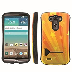 [ArmorXtreme] Hybrid ShockProof Armor KickStand Case (Star Yellow) for LG G3
