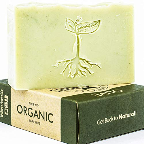 (Castile Soap - Handmade with Olive Oil, Shea Butter & Hemp Oil, Unscented, All Natural Glycerin Soap Bar Made w/Organic Ingredients, Handcrafted in USA 4.7oz )