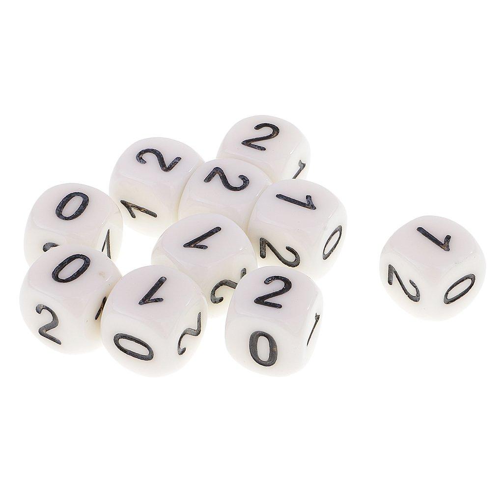 sharprepublic N/úmeros De 10 Piezas De 6 Piezas De 16 Mm 0 1 2 Juego De Dados para Ni/ños Materiales De Aprendizaje Matem/ático