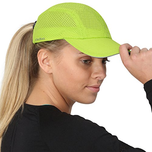 TrailHeads Race Day Performance Running Cap | The Lightweight, Quick Dry, Sport Cap for Women - Cool Green - Low Profile Golf Visor