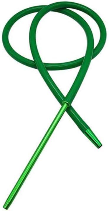 Manguera de Shisha de la cachimba del 1.8M con el tubo que fuma moderno de la manguera de Shisha de la manguera del silicón del tronco de aluminio (green)