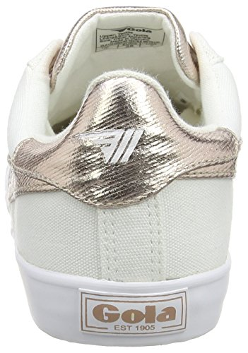 Women's Gold Sneaker Leather 8 Rose White Orchid Gola Size M Metallic qRFxdw11P