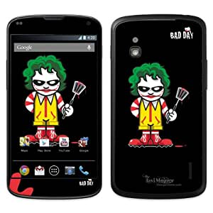 Diabloskinz B0090-0066-0012 Killer Food - Skin de vinilo para LG Google Nexus 4, color negro