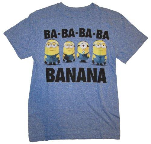 Despicable Me 2 Minion Banana Blue Graphic T-Shirt