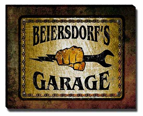 beiersdorfs-garage-stretched-canvas-print