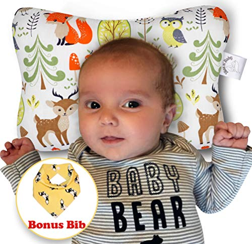 Baby Head Shaping Pillow - Flat Head & Reflux Prevention for Newborn Infants –...
