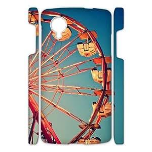 Clzpg 3D Unique Design Nexus 5 Case - Ferris wheel DIY 3D shell phone case