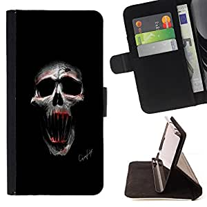 Jordan Colourful Shop - Evil Skull For Sony Xperia m55w Z3 Compact Mini - Leather Case Absorci???¡¯???€????€?????????&Atil