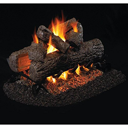 Oak Classic Vented Gas Logs (Peterson Real Fyre 16-inch Golden Oak See-thru Gas Log Set With Vented G45 Burner)