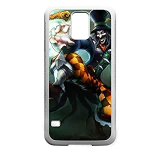 Shaco-005 League of Legends LoL case cover Samsung Galaxy S5 I9600/G9006/G9008 - Rubber White