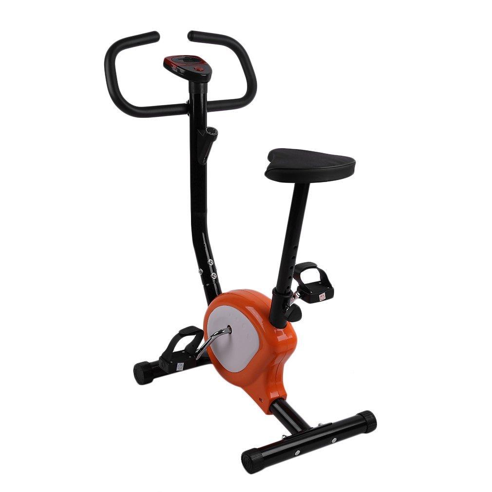 Binghotfire Indoor Sports Fitnessfahrrad Ergometer Heimtrainer Hometrainer Höhenverstellbar Trimmrad mit LCD Heimfahrrad Ausdauertraining fahrradtrainer bis 110kg