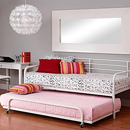 Amazon.com: DHP Separate Trundle for Metal Daybed Frame - White ...