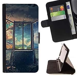Momo Phone Case / Flip Funda de Cuero Case Cover - Arte Profundo Impresionante Pintura - Samsung Galaxy S6 Edge Plus / S6 Edge+ G928