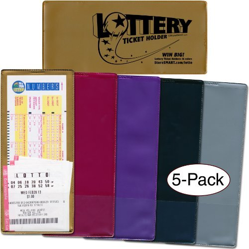 StoreSMART - Lotto Ticket Holders 5-Pack - Plastic - Midnight Madness Collection (LTMID)