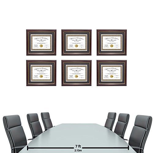 Creative Picture Frames CreativePF [11x14mh.gd] Mahogany Frame with Gold Rim, Black Matting Holds 8.5 by 11-inch Diploma with Easel and installed Hangers (12-Pack) by Creative Picture Frames (Image #4)