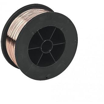 Acero suave alambre Mig carrete 0,8 mm 0,7 kg recubierto de cobre de ...