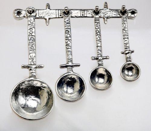 Crosby & Taylor Celtic Measuring Spoon Set on Pewter Display Strip
