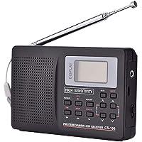 Dvluck - Receptor de radio digital de banda completa AM/FM/SW/MW con antena externa