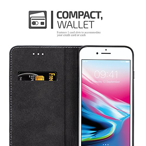 Cadorabo - Funda Estilo Book para >                                      Apple iPhone 8 / 7 / 7S                                      < de Diseño gamuza-Artificial / Cuero-Artificial con Tarjetero, Función de Soporte y Cierre Magnético Invisible