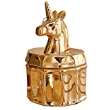 PUDDING CABIN Gold Unicorn Jewelry Box Rings Holder Trinket Box Earrings Necklace Organizer