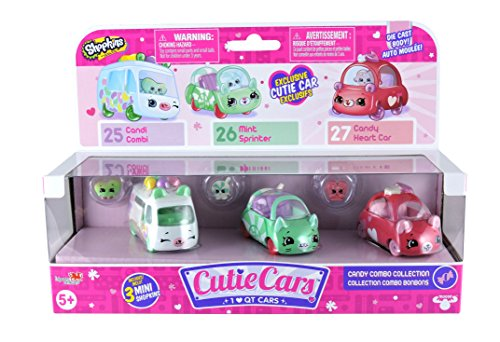 Cutie Cars Shopkins S1 3pk - Freezy Riders & BONUS (MAY VARY) Shopkins World Vacation ASIA Season 8 Blind Pack (Bundle of 2) - Three Blind Mice Costumes For Adults