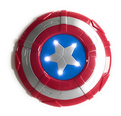 Captain America Shield Constume Accessories Prop with Music and Lights 12 Inch (Kids Captain America Costume With Shield)