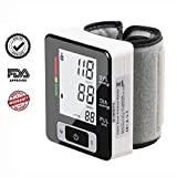 Blood Pressure Monitor Wrist Accurately Detects Blood Pressure Heart Rate & Irregular Heartbeat, Large LCD Display (Black)