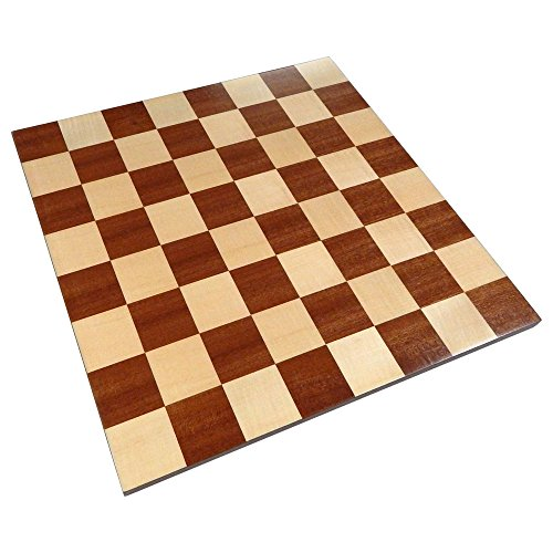 Zelus Borderless Tournament Chess Board with Inlaid Mahogany Wood - Board Only – 18 Inch ()