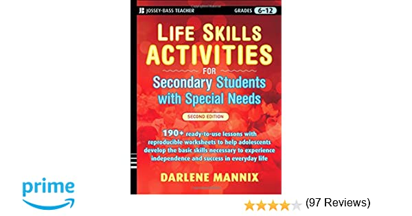 Life Skills Activities for Secondary Students with Special Needs ...
