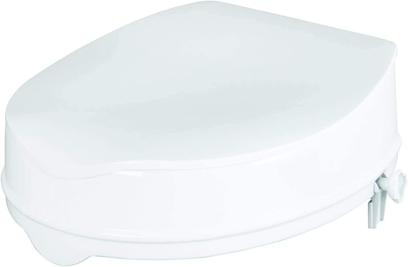 Savanah Raised Toilet Seat with Lid 10 cm/4 inch (Eligible for VAT relief in the UK)