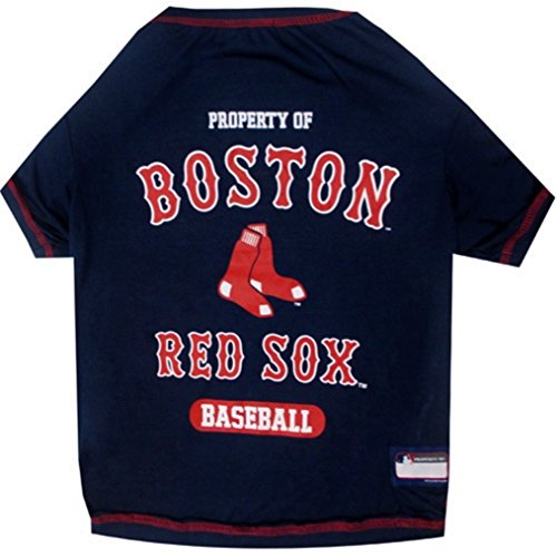 Pets First Boston Red Sox Tee Shirt for Pets (MLB Official by Size (First Sox Tee)