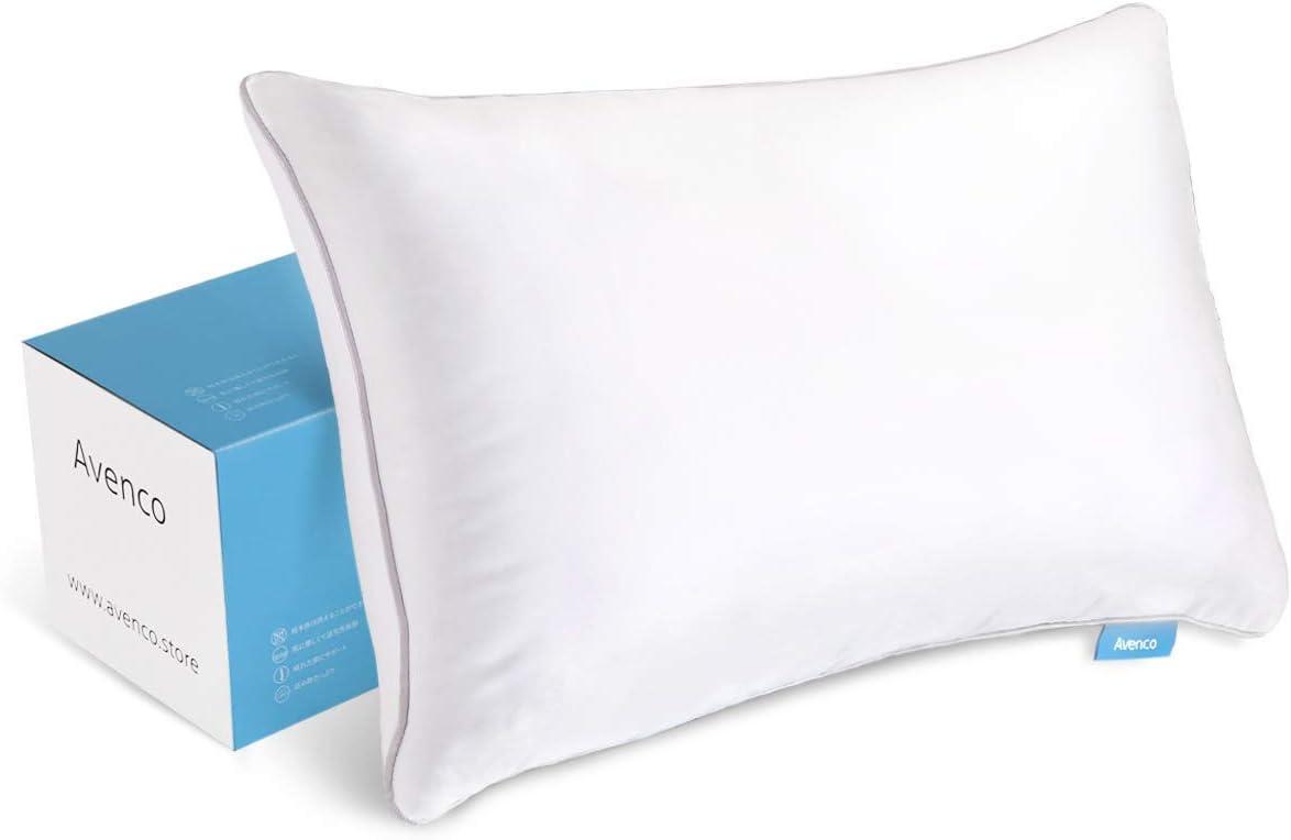Avenco Standard Adjustable Shredded Memory Foam Pillow, 20x26 Inches, White, 1 Pack
