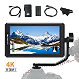 FEELWORLD F6 5.7Inch FHD IPS On Camera 4K HDMI Monitor with Swivel Arm and 8V DC Power Output F550 Battery Included Kit(Upgraded firmware)
