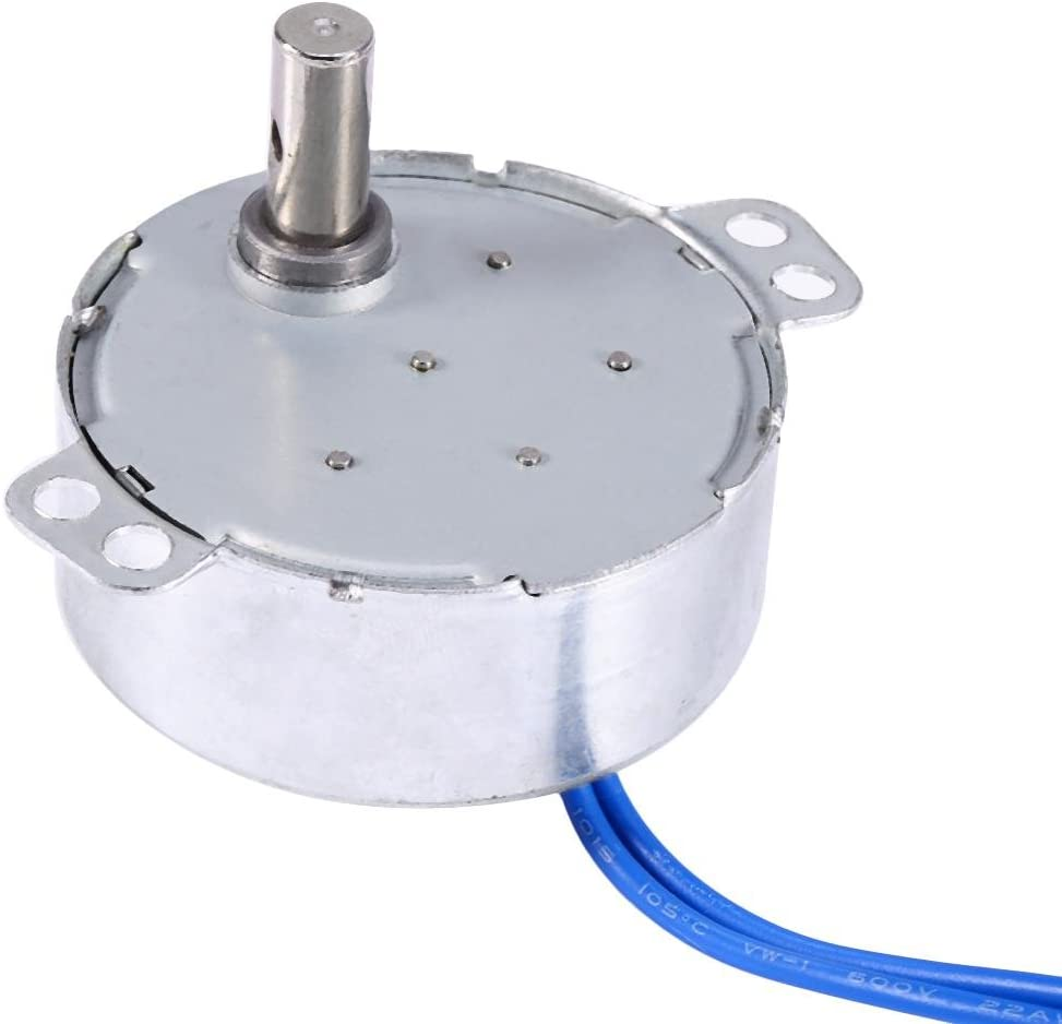 Synchron Motor Model or Guide Motor Synchronous Motor Turntable Motor Electric Cup Turner Motor 50//60Hz AC 100-127V 5-6RPM//MIN CCW//CW 4W Direction for Hand-Made School Project