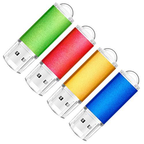 SumDuta 4 Pack 32GB USB 2.0 Flash Drive Thumb Drives Memory