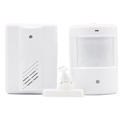 entrada de puerta de la alarma de Bell Chime timbre inalámbrico por infrarrojos IR detector del