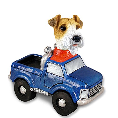 Wire Fox Terrier Red Pickup Doogie Collectable Figurine