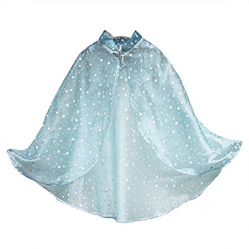 Frozen Elsa Cape - Ameda Girls Elsa Princess Polka Dots
