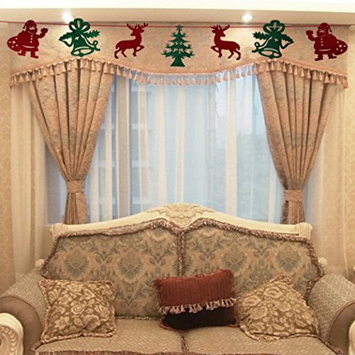 Nyl Banner (DZT1968 7pc Christmas Party Decoration Home Bunting Banner Garland Props Flag)