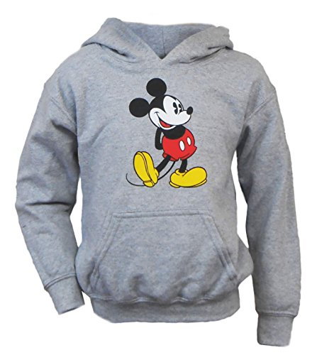 Disney Youth Head To Toe Mickey Hoodie Heathered Grey Small (6/6) (Disney Sweatshirt Mickey)