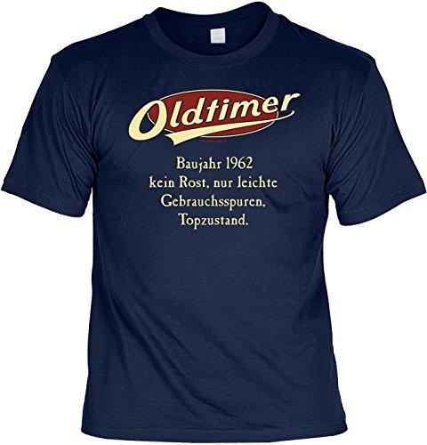 T-Shirt mit Urkunde - Oldtimer Baujahr 1962 - lustiges Sprüche Shirt als Geschenk zum 55. Geburtstag - NEU mit gratis Zertifikat!